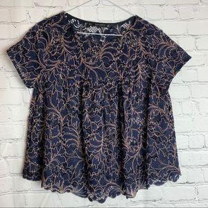 ZARA Lace Crop Blouse